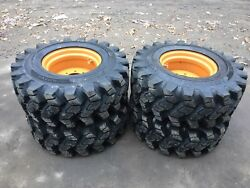 4 New Hd 14-17.5 Camso Sks753 Skid Steer Tire/wheels/rims For Case-50/32nd Tread
