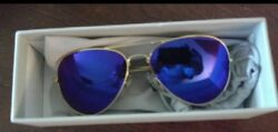 BLUE MIRROR AVIATORS FROM DTECH.  HIGH END GLASS LENSES WITH MIRROR.