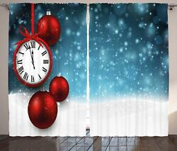 Clock Curtains 2 Panel Set For Decor 5 Sizes Available Window Drapes