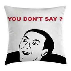 Humor Throw Pillow Cases Cushion Covers Home Decor 8 Sizes