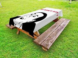 Humor Outdoor Picnic Tablecloth In 3 Sizes Washable Waterproof