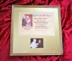 Authentic Signed - Framed Pope Paul Vi Apostolic Blessing With Vatican Seal 1965