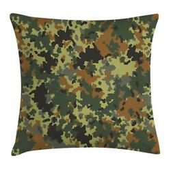 Camo Throw Pillow Cases Cushion Covers Home Decor 8 Sizes Ambesonne