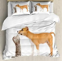 Pitbull Duvet Cover Set Twin Queen King Sizes with Pillow Shams Ambesonne