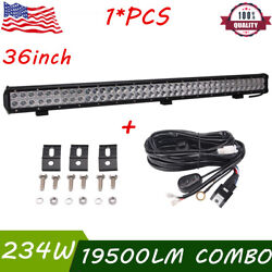 36 Inch 234w Cree Led Work Light Bar Combo Ford Gmc Offroad Ute And Wiring Kit