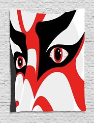 Kabuki Mask Tapestry Wall Hanging Decoration For Room 2 Sizes Available