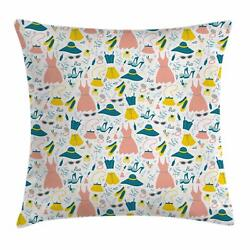 Heels And Dresses Throw Pillow Cases Cushion Covers Home Decor 8 Sizes Ambesonne