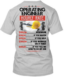 Off-the-rack Sarcastic Operating Engineer - Hourly Hanes Tagless Tee T-Shirt $18.99