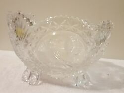 Hofbauer Byrdes Small 4 Toed Bowl Lead Crystal Candy Dish