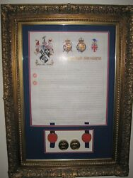 1913 Grant Of Arms To James Carlton Sitt Framed And With Original Case