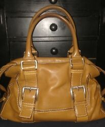 Designer MICHAEL KORS Tan Leather Tote Satchel Shoulder Bag Handbag Purse ML