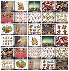 Gingerbread Man Curtains 2 Panel Set Decor 5 Sizes Available Window Drapes
