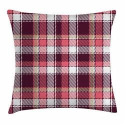 Checkered Throw Pillow Cases Cushion Covers Home Decor 8 Sizes By Ambesonne