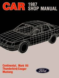 Oem Repair Shop Manual Loose Leaf For Lincoln Continental, Mark VII 1987