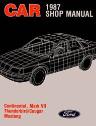 Oem Repair Shop Manual Loose Leaf For Mercury Cougar 1987
