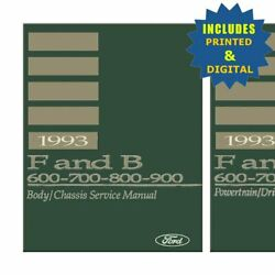 Oem Repair Maintenance Shop Manuals Cd And Bound For Ford Truck Fandb 600-900 1993