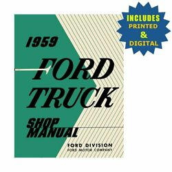 Oem Repair Maintenance Shop Manuals Cd And Bound For Ford Truck All Models 1959