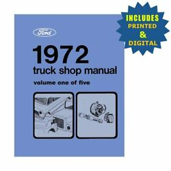 Oem Repair Maintenance Shop Manuals Cd And Bound For Ford Truck All Models 1972