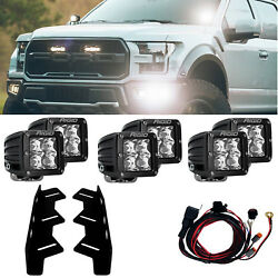Rigid Led Fog Light Kit 6 D-series Pro Led Lights For 17-20 Ford F150 Raptor