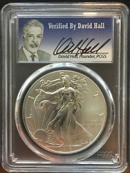 2016 Ms70 Silver Eagle 30th Anniversary Graded By Pcgs Founder David Hall Rare
