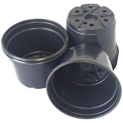 5 inch Round Black Plastic Pots SET OF 25 5quot; x 3.6quot; flower pot Nursery