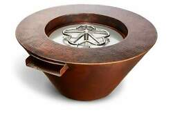 Hpc Mesa Copper Fire And Water Bowl, Match Lit, Natural Gas, 32