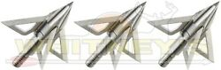Trophy Taker Quad Steel 100gr Fixed 4 Blade Broadhead Cut on contact T7200