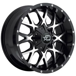 20 Ford F-150 F150 Expedition Rims Wheels Dropstars 645mb Off Road Black And Mchn