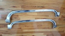 1955 Cadillac Fender Skirts Stainless Set Pass And Driver Sides Randl