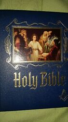 Kjv Holy Bible Master Reference Red Letter Edition Masonic Heirloom W Bookmark
