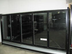 5 Glass Doors Freezer Grocery Convenience Store Food Ice Cream 12 feet 10