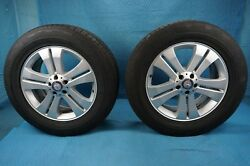 Mercedes Gl 19 Alloy Wheel And Continental 4x4 Contact 275/55r19 Pair 07-09 Oem