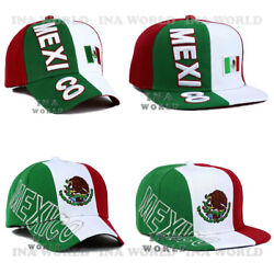 Mexican Hat Mexico Flag Cap Embroidered Curved Bill / Flat Bill Baseball Cap
