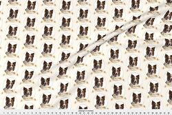Chocolate Chocolate Border Collie Fabric Printed by Spoonflower BTY