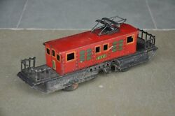 Vintage T.n Trademark Wind Up 600 Litho Train/cable Car Tin Toy, Japan