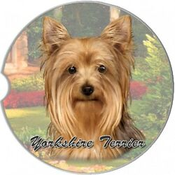 Yorkshire Terrier Yorkie Sandstone Absorbent Dog Breed Car Coaster