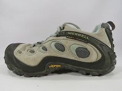 Merrell Women's Chameleon Wrap Ventilator Lt. Gray and Mint Shoes Size 8.5