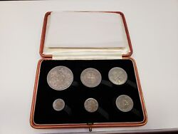 Uk British 1927 King George V 6 Coin Collection Set