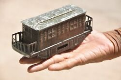 Vintage Wind Up 2000 S.s Trademark Litho Train/cable Car Tin Toy , Japan