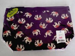 NaRaYa Cosmetic Bag Make up with Strap Purple Color Elephants Design New Sealed