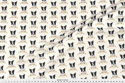 Border Collie Dog Pet Fabric Printed by Spoonflower BTY