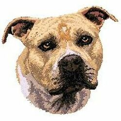 Staffordshire Bull Terrier Pit Bull Pitbull Dog  Embroidered Patch 2.9