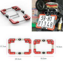 Motorcycle Accessories Scooter Adjustable Red Aluminum Alloy License Plate Frame