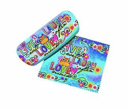 Spoontiques Spoontiques Live Love Laugh Eyeglasses Case (2pc Set) Eyewear and Su $13.51