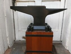 Rare Large Wooden Anvil 33 Inches Long 29 And 1/2 Inches Tall With Stand.