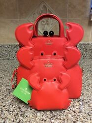 Kate Spade Shore Thing Crab Lottie Leather Satchel Crossbody and Coin Purse