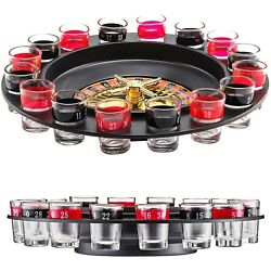 Drinking Spin And Shot Roulette Wheel Set Casino Party Glasses Game For Adults 18+