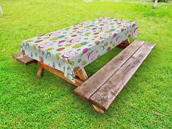Vintage Kids Outdoor Picnic Tablecloth Ambesonne In 3 Sizes Washable Waterproof