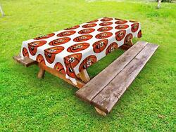 Sports Theme Outdoor Picnic Tablecloth Ambesonne In 3 Sizes Washable Waterproof