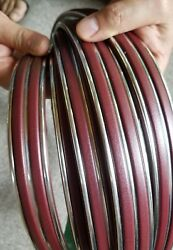 Vintage 70's Burgundy And Chrome Car Molding Never Used New Old Stock Nos